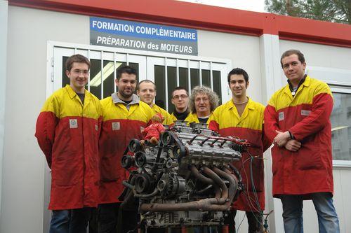 Partie de classe et moteur Ferrari